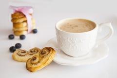 Кофе и palmiers Стоковое Фото