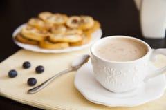 Кофе и palmiers Стоковая Фотография