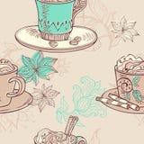 Кофе картина безшовная Стоковое Изображение RF