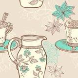 Кофе картина безшовная Стоковое фото RF