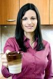 кофе коммерсантки пролома имея Стоковое Фото