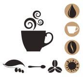 Кофе Комплект значка Стоковое Изображение RF