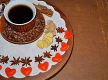 Кофе - кофе влюбленности I, день валентинки - символ влюбленности Стоковые Изображения
