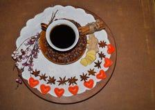 Кофе - кофе влюбленности I, день валентинки - символ влюбленности Стоковая Фотография RF