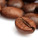 кофе крупного плана фасоли стоковая фотография rf