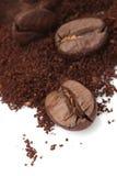кофе крупного плана фасоли стоковое изображение rf