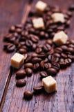кофе крупного плана фасолей предпосылки astract Стоковая Фотография RF