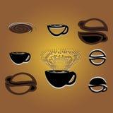 Кофе логоса Иллюстрация вектора