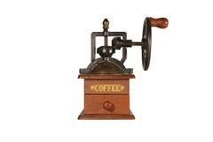 кофе мелет старой стоковое изображение