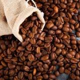 кофе мешковины фасолей мешка Стоковая Фотография