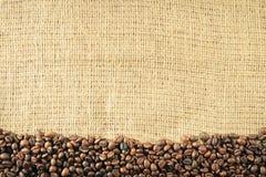 кофе мешковины фасолей старый Стоковая Фотография RF