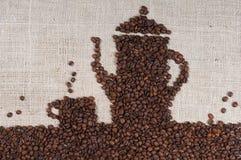 кофе мешковины фасолей Стоковая Фотография RF