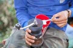 Кофе молотилки вручную Стоковые Фотографии RF