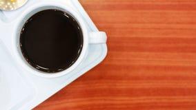 Кофе на настольном компьютере Стоковое Фото