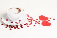Кофе дня валентинки Стоковое Фото
