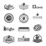 Кофе обозначает логотип Стоковые Изображения