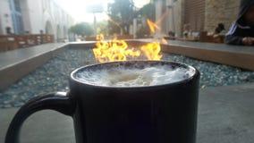 Кофе огня стоковые изображения