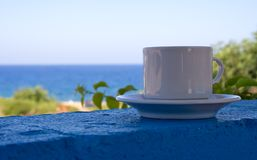 кофе пляжа Стоковое Изображение