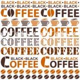 Кофе Предпосылка для кофейнь, ресторанов, снэк-бар Бесплатная Иллюстрация
