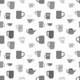 кофе предпосылки безшовный Стоковые Изображения