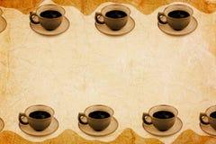 кофе предпосылки старый Стоковые Изображения