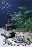 Кофе рождества Стоковые Фотографии RF