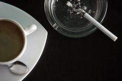 кофе сигарет Стоковое Изображение RF