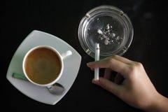 кофе сигарет Стоковые Изображения
