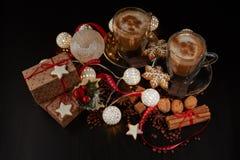 Кофе Состав рождества и Нового Года стоковое изображение