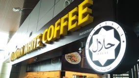 Кофе старого городка белый Стоковое Изображение RF
