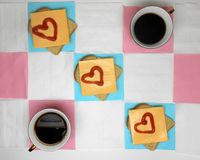 Кофе с влюбленностью Стоковые Фотографии RF