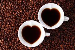 Кофе с влюбленностью стоковое изображение rf