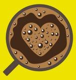 Кофе с изображением влюбленности Стоковое Фото