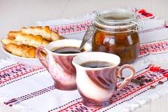 Кофе с круасантами Стоковое фото RF