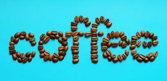 Кофе слова стоковые изображения