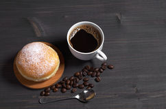 Кофе с донутом Стоковые Фотографии RF