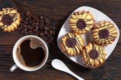 Кофе с печеньями Стоковое Изображение