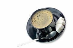 Кофе с сахаром стоковая фотография rf
