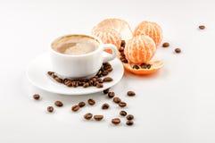 Кофе с tangerine Стоковое фото RF