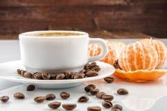 Кофе с tangerine Стоковые Фото