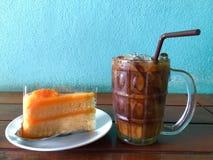 Кофе торта и льда Стоковые Изображения