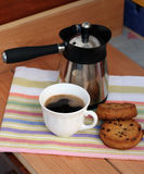 Кофе утра с печеньями Стоковая Фотография