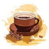 кофе фасолей вкусный иллюстрация штока