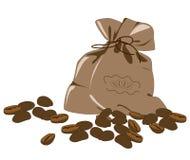 кофе фасолей мешка Бесплатная Иллюстрация
