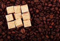 кофе фасолей предпосылки Стоковое Изображение