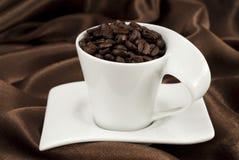кофе фасолей cubes сахар чашки Стоковые Изображения RF