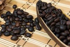 кофе фасоли близкий снятый вверх Стоковое Фото