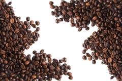 кофе фасоли близкий снятый вверх Стоковая Фотография RF