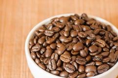 кофе фасоли близкий снятый вверх Стоковые Изображения
