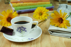 кофе цветастый Стоковые Изображения RF